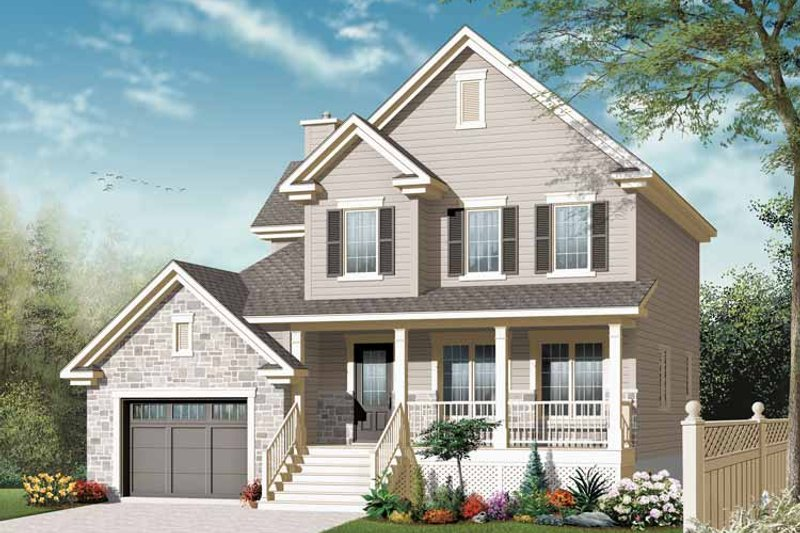 House Plan Design - Country Exterior - Front Elevation Plan #23-2542