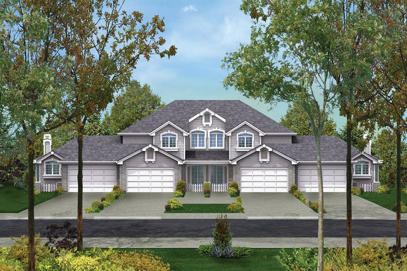 Traditional Exterior - Front Elevation Plan #57-145 - Houseplans.com