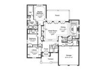 Traditional Floor Plan - Main Floor Plan Plan #46-847