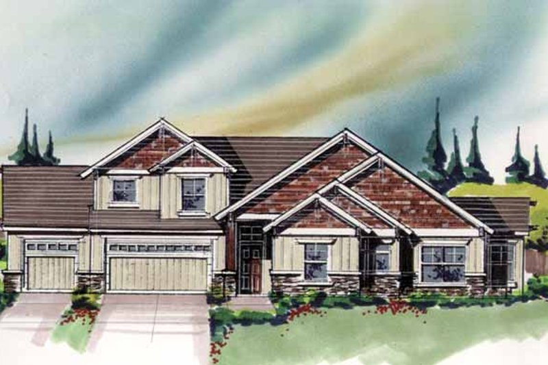 Craftsman Exterior - Front Elevation Plan #509-296 - Houseplans.com