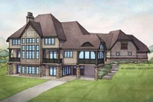Home Plan - Country Exterior - Rear Elevation Plan #928-269