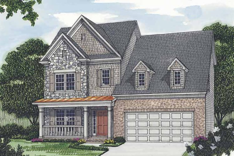 Dream House Plan - Traditional Exterior - Front Elevation Plan #453-504