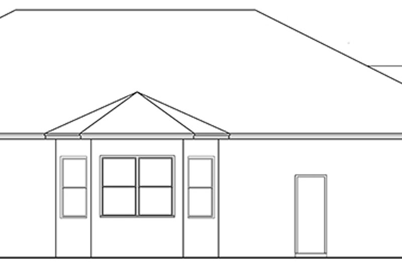 Ranch Exterior - Other Elevation Plan #1058-111 - Houseplans.com