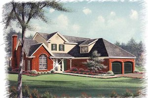 Architectural House Design - Traditional Exterior - Front Elevation Plan #15-332