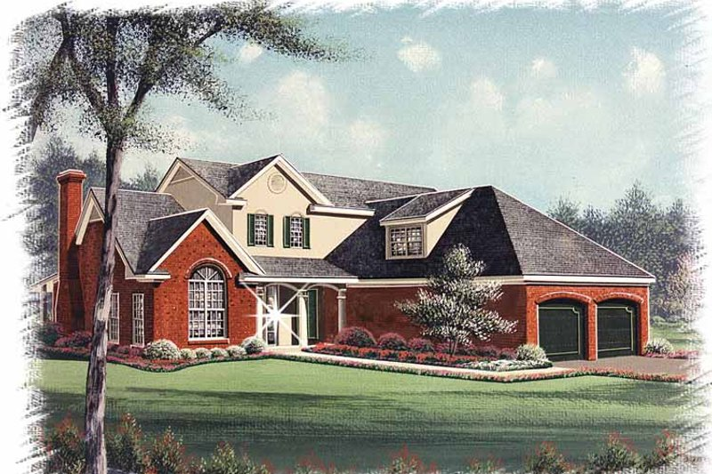 Traditional Exterior - Front Elevation Plan #15-332 - Houseplans.com