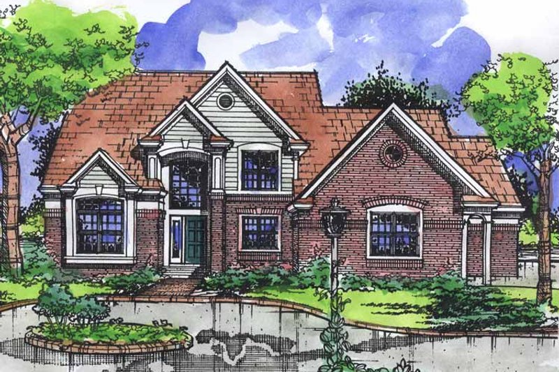 Architectural House Design - Traditional Exterior - Front Elevation Plan #320-922