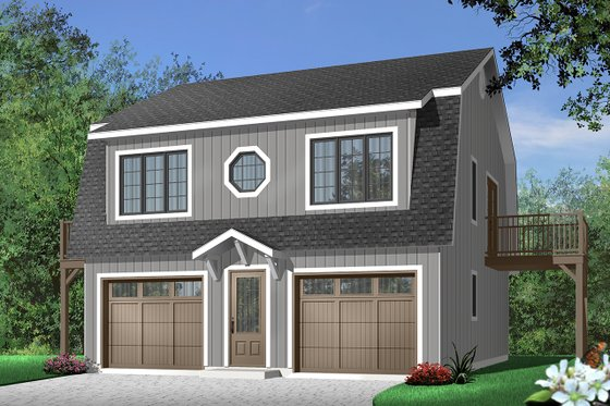 House Plan Design - Country Exterior - Front Elevation Plan #23-441