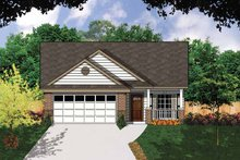 Ranch Exterior - Front Elevation Plan #62-159