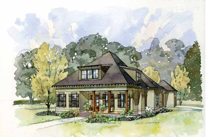 Architectural House Design - Craftsman Exterior - Front Elevation Plan #37-279