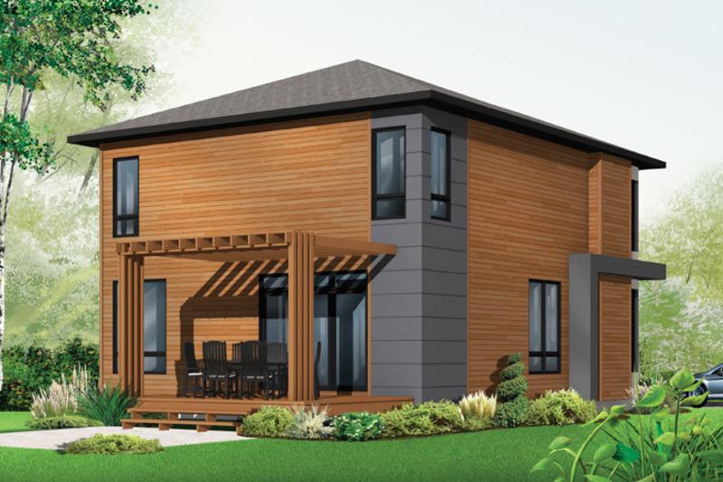 Contemporary Exterior - Rear Elevation Plan #23-2554 - Houseplans.com