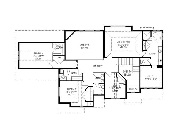 Traditional Floor Plan - Upper Floor Plan Plan #920-76