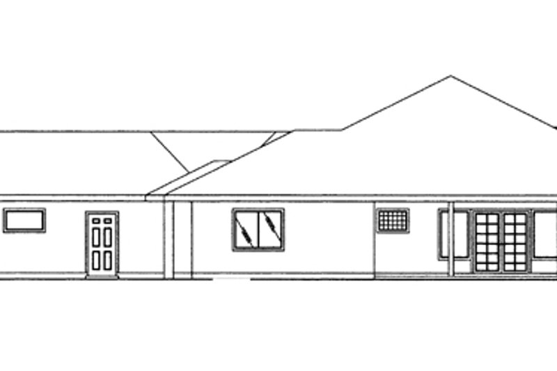 Ranch Exterior - Other Elevation Plan #117-847 - Houseplans.com