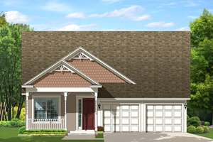 Mediterranean Exterior - Front Elevation Plan #1058-137