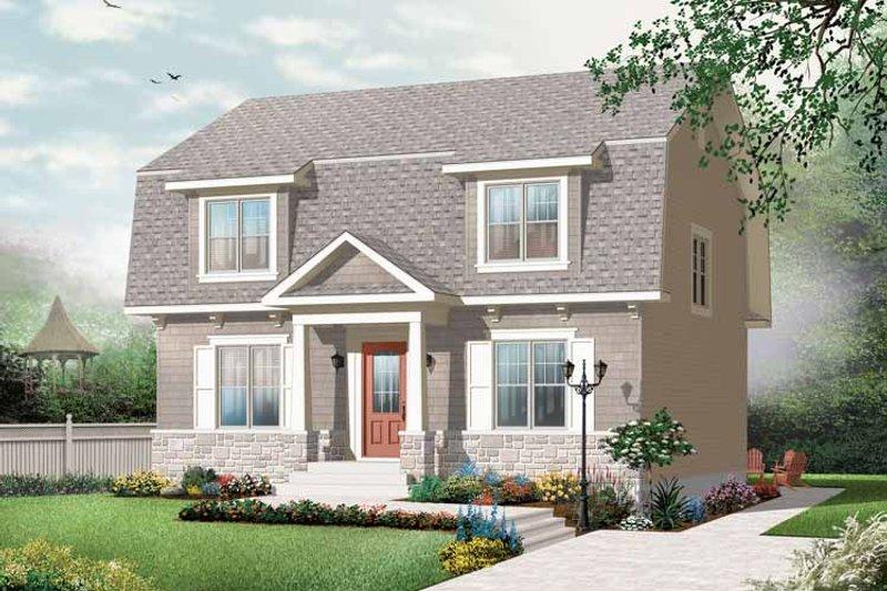 Colonial Exterior - Front Elevation Plan #23-2415 - Houseplans.com