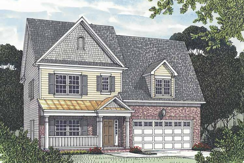 Dream House Plan - Traditional Exterior - Front Elevation Plan #453-528
