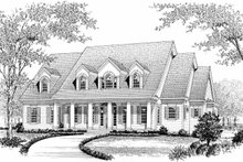 Classical Exterior - Front Elevation Plan #453-325