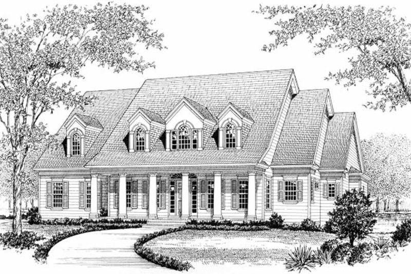 Classical Exterior - Front Elevation Plan #453-325 - Houseplans.com