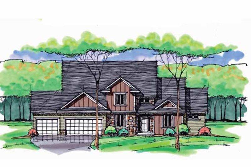 Colonial Exterior - Front Elevation Plan #51-1040 - Houseplans.com