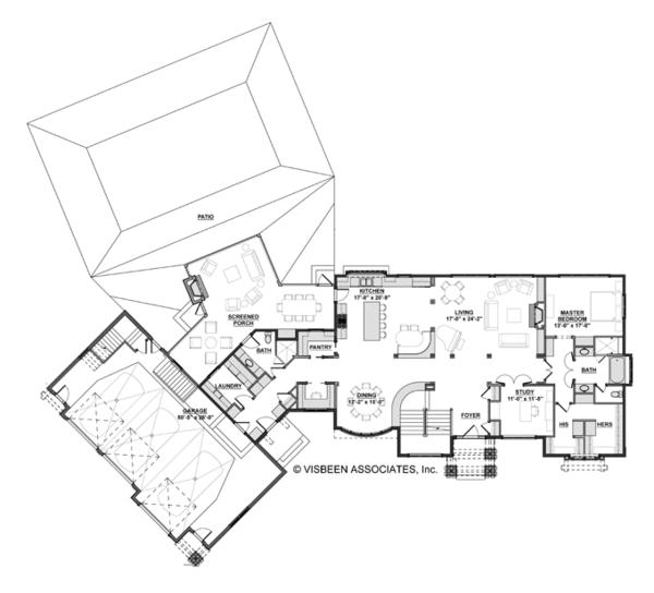 European Floor Plan - Main Floor Plan Plan #928-267