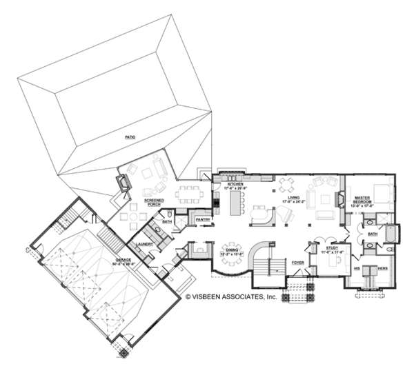 European Floor Plan - Main Floor Plan Plan #928-267