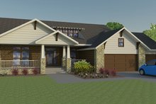 Dream House Plan - Craftsman Exterior - Front Elevation Plan #1063-1