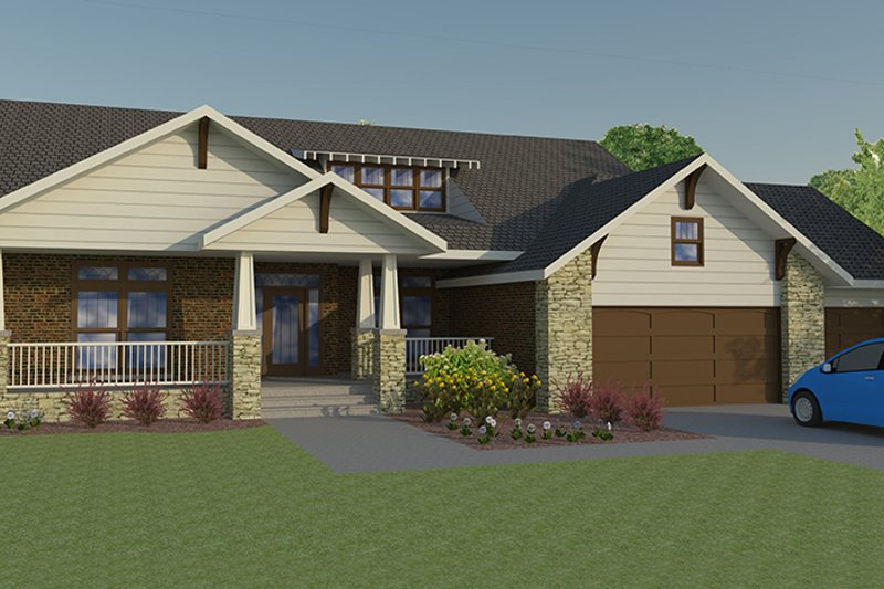 Craftsman Exterior - Front Elevation Plan #1063-1 - Houseplans.com