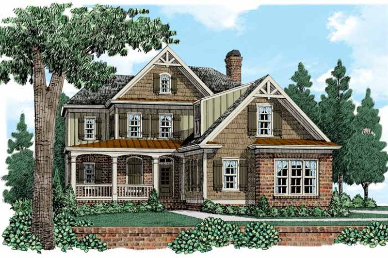 European Exterior - Front Elevation Plan #927-518