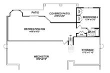 Craftsman Floor Plan - Lower Floor Plan Plan #314-290