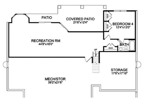 Home Plan - Craftsman Floor Plan - Lower Floor Plan #314-290