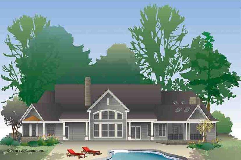 European Exterior - Rear Elevation Plan #929-971 - Houseplans.com