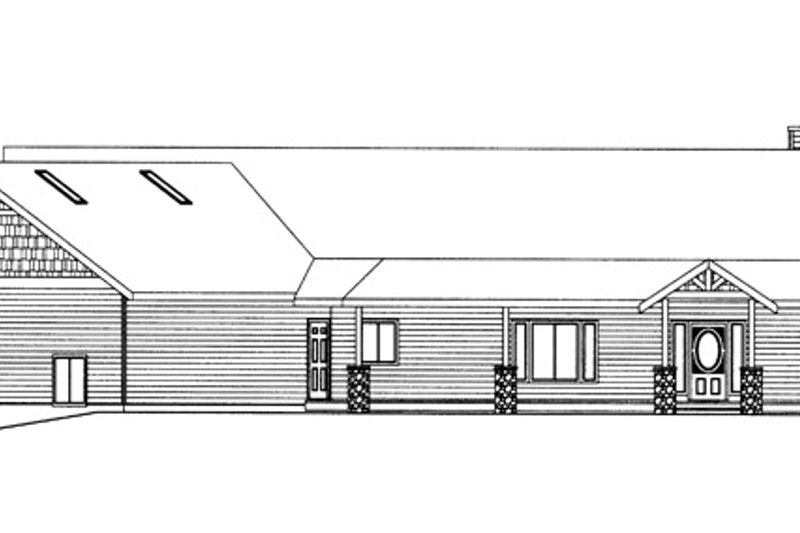 Ranch Exterior - Front Elevation Plan #117-848 - Houseplans.com