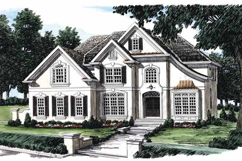 Mediterranean Exterior - Front Elevation Plan #927-152