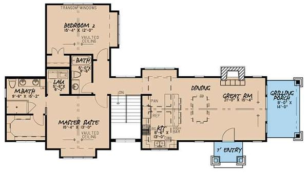 Craftsman Floor Plan - Main Floor Plan Plan #17-3399