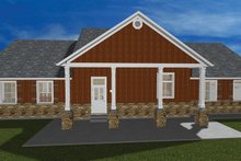 Ranch Exterior - Rear Elevation Plan #1060-23