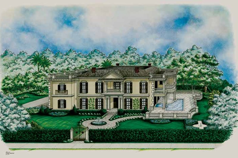 Classical Exterior - Front Elevation Plan #1017-152