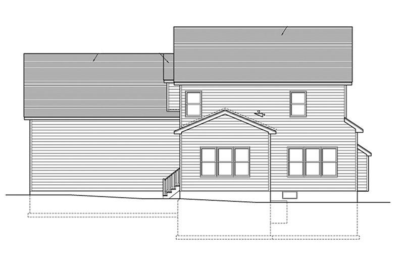 Colonial Exterior - Rear Elevation Plan #1010-122 - Houseplans.com