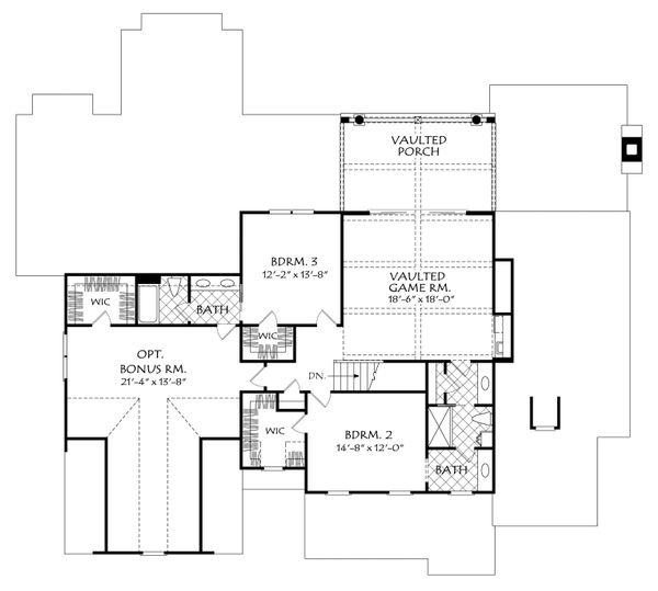 Architectural House Design - Country Floor Plan - Upper Floor Plan #927-982