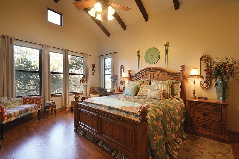 Country Interior - Master Bedroom Plan #140-171 - Houseplans.com