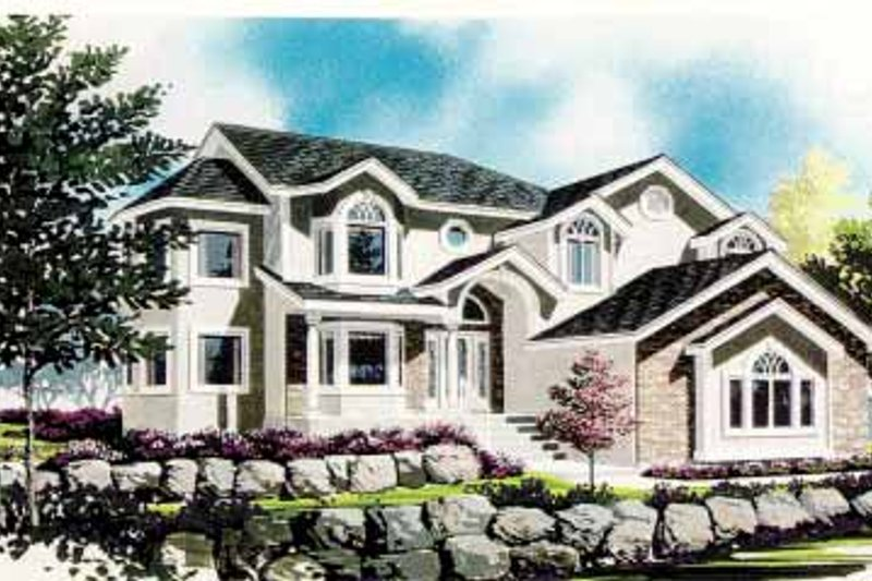 Ranch Exterior - Front Elevation Plan #308-268