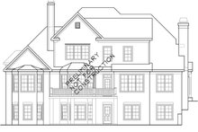 House Design - European Exterior - Rear Elevation Plan #927-531