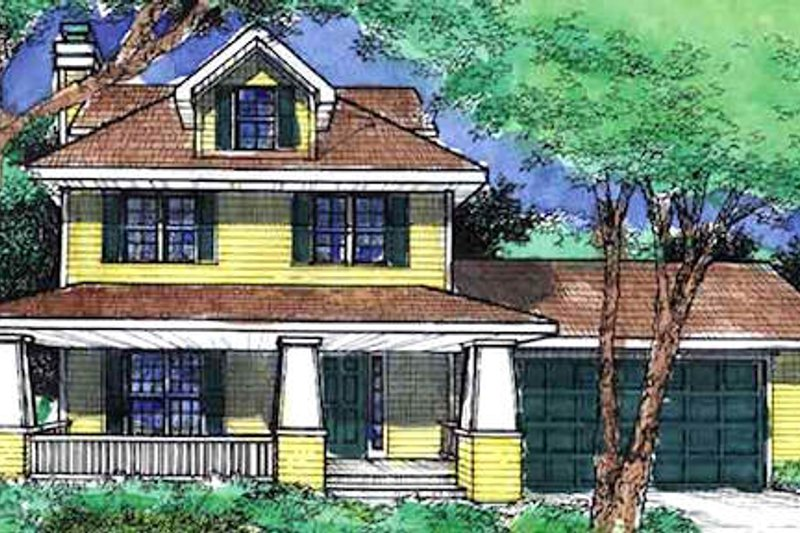 Craftsman Exterior - Front Elevation Plan #320-400 - Houseplans.com
