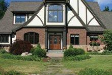 Tudor Exterior - Front Elevation Plan #928-27