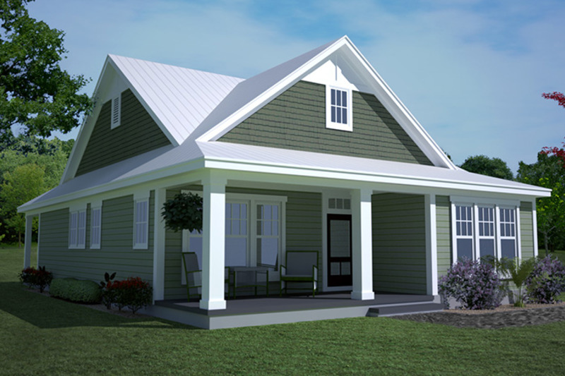 Ranch Exterior - Front Elevation Plan #991-28 - Houseplans.com