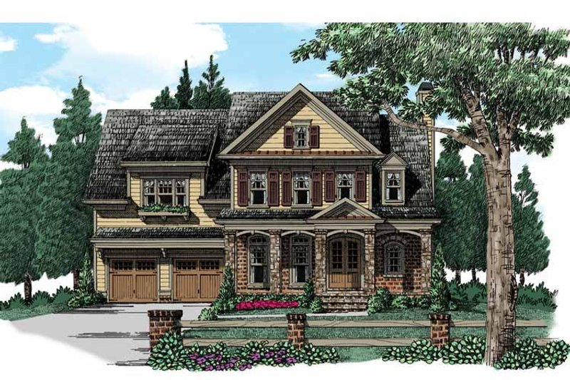 Traditional Exterior - Front Elevation Plan #927-940 - Houseplans.com