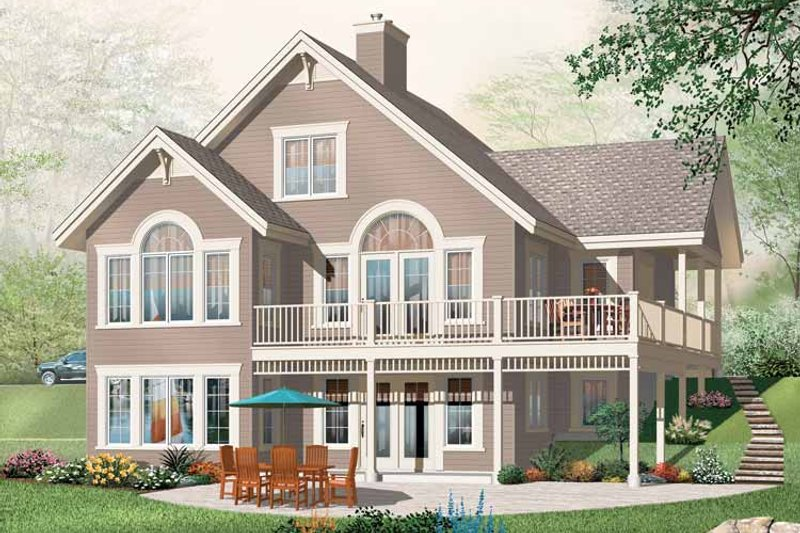 European Exterior - Front Elevation Plan #23-2421
