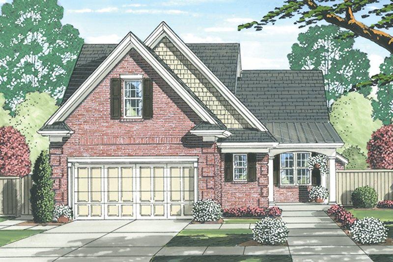 Colonial Exterior - Front Elevation Plan #46-843 - Houseplans.com