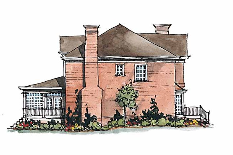 Classical Exterior - Other Elevation Plan #429-183 - Houseplans.com