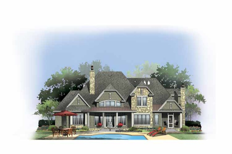 Country Exterior - Rear Elevation Plan #929-850 - Houseplans.com