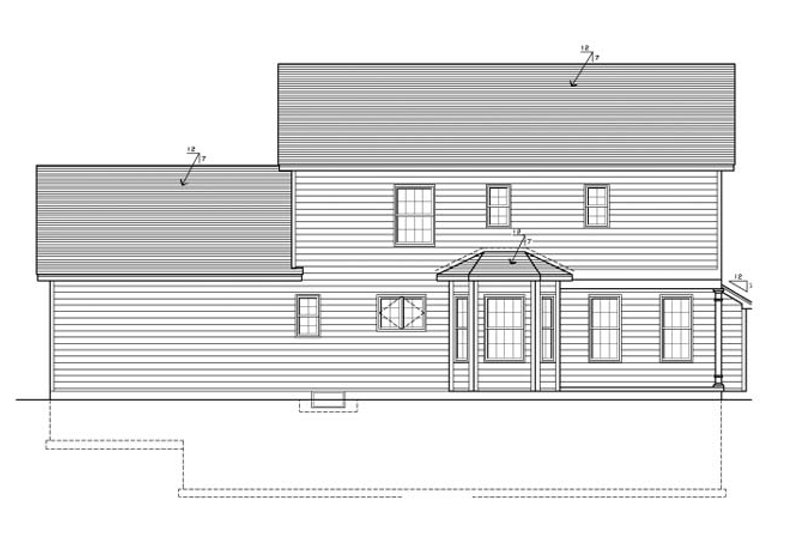 Colonial Exterior - Rear Elevation Plan #1010-71 - Houseplans.com