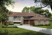 House Blueprint - Contemporary Exterior - Front Elevation Plan #47-672